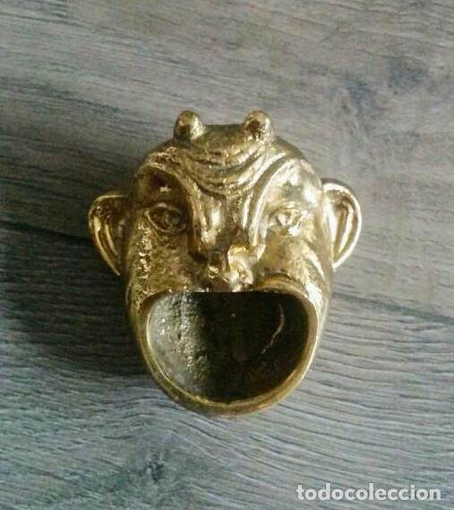 Antigüedades: ANTIGUO CENICERO BRONCE - Foto 4 - 59627607