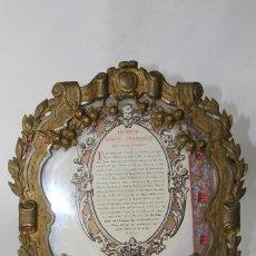 Antigüedades: ANTIGUA SACRA RELIGIOSA DE BRONCE - ESTILO BARROCO - S. XVIII-XIX -. Lote 76564995