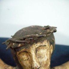 Antigüedades: 27X22,5 CM. CRISTO CRUCIFICADO GOTICO EN MADERA POLICROMADA. Lote 72100503