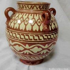 Antigüedades: ESPECTACULAR JARRÓN DE REFLEJOS CON CUATRO ASAS DE MANISES - VALENCIA. Lote 78405077