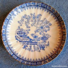 Antigüedades: PLATO PORCELANA SANTA CLARA, CHINA BLAU. DE 17 CMS. DIAMETRO.. Lote 72103811