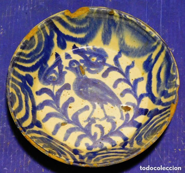 PLATO HONDO CERAMICA GRANADA MEDIADOS S. XX (Antigüedades - Porcelanas y Cerámicas - Fajalauza)
