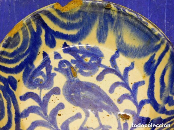 Antigüedades: PLATO HONDO CERAMICA GRANADA MEDIADOS S. XX - Foto 2 - 72105515