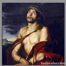 Antigüedades: BONITO AZULEJO 20X20 DE JESÚS ECCE HOMO. Lote 72108499