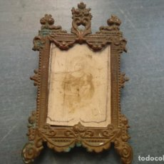 Antigüedades: SACRA MINIATURA CAPILLA BARROCA CAPILLITA METAL FOTOGRAFIA SANTA ANA Y LA VIRGEN . Lote 72111091