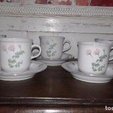 Antigüedades: JUEGO CAFE 5 TAZAS DE PORCELANA. Lote 72135035