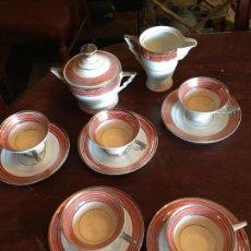 Antigüedades: JUEGO DE CAFE PARA 5 DE PORCELANA FINA ALEMANA - MUY ANTIGUO. Lote 72138675