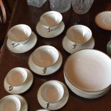 Antigüedades: JUEGO DE CAFE Y TE PARA 4 PERSONAS DE LIMOGE - LUJO!!!. Lote 72139335