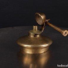 Antigüedades: ANTIGUO CANDIL PEQUEÑO DE BRONCE PARA ALCOHOL O ACEITE. Lote 72140307