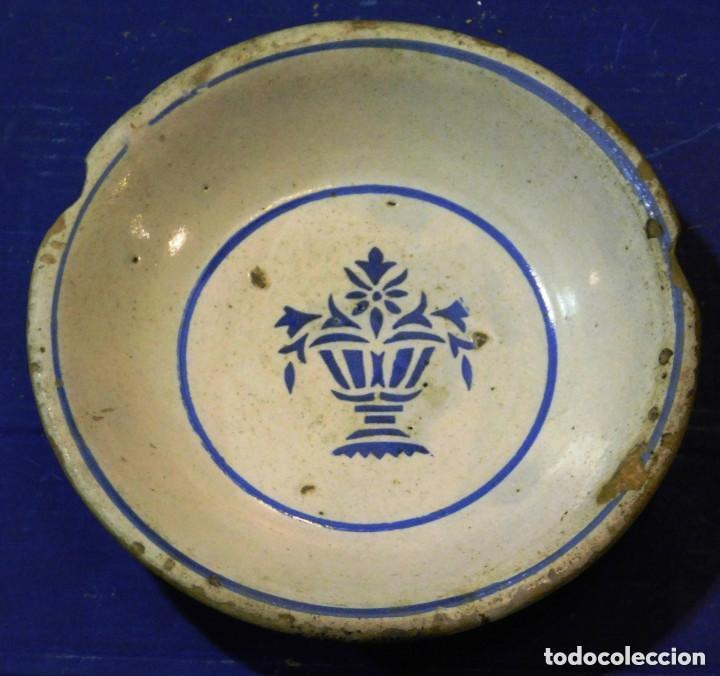 PLATO HONDO CERAMICA MUY ANTIGUO (Antigüedades - Porcelanas y Cerámicas - Otras)