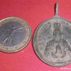Antigüedades: ANTIGUA MEDALLA SIGLO XVII N S DEL SAGRADO CORAZON TOLEDO Y SAN JULIAN, PRECIOSA Y GRANDE. Lote 97173476