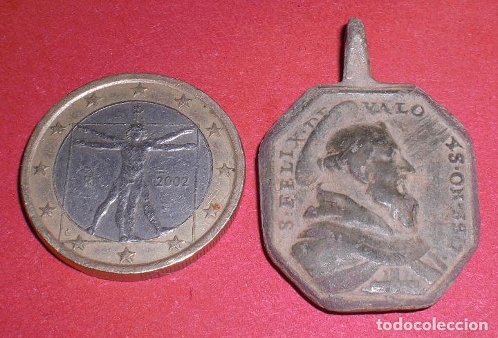 ANTIGUA MEDALLA SIGLO XVII SAN FELIPE Y JESUS NAZARENO (Antigüedades - Religiosas - Medallas Antiguas)