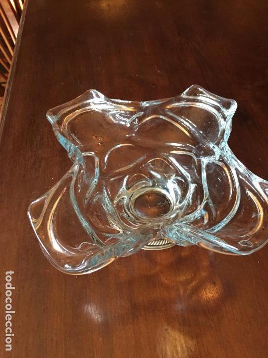 FRUTERO DE CRISTAL CON BASE DE PLATA (Antigüedades - Cristal y Vidrio - La Granja)