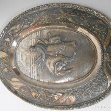 Antigüedades: BANDEJA BAÑADA EN PLATA. Lote 72193339