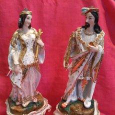 Antigüedades: PERFUMEROS FIGURAS DE PORCELANA DEL SIGLO XIX. Lote 72193869