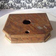 Antigüedades: PEANA MADERA XVIII. PARA SANTO, CAP I POTA, VIRGEN, DOLOROSA. PAN DE ORO. IGLESIA. RETABLO. Lote 72209379