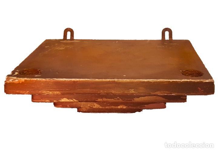 MÉNSULA O PEANA EN MADERA Y DORADO. (Antigüedades - Muebles Antiguos - Ménsulas Antiguas)