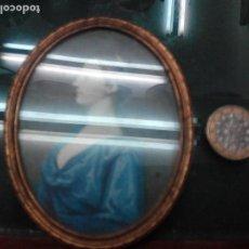 Antigüedades: PORTAFOTOS OVALADO DE METAL. Lote 72232099