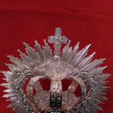 Antigüedades: CORONA IMPERIAL DE VIRGEN, BAÑO DE PLATA 10 CM DIÁMETRO(NUEVO). Lote 72251270