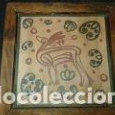 Antigüedades: CERAMICA ARTISTICA DE 20, 5X20, 5 CM. Lote 72252671