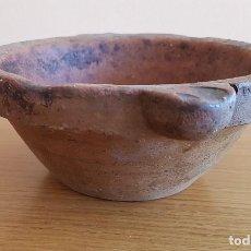 Antigüedades: CERÁMICA POPULAR CATALANA, MORTERO DE BARRO.. Lote 72254135