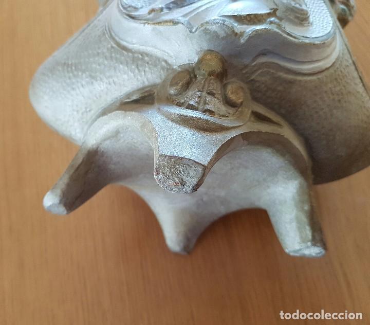 Antigüedades: Centro modernista, florero de cerámica, bellamente decorado. - Foto 5 - 72254859