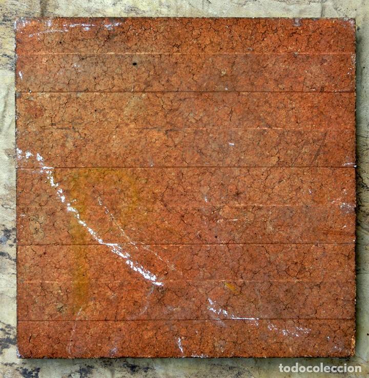 Antigüedades: VIEJO AZULEJO FIRMADO - A. UBEDA - PINTADO A MANO - CAZADOR CON LIEBRES - MOTIVO COSTUMBRISTA - - Foto 7 - 72260683