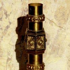 Antigüedades: ANTIGUO Y RARO CANDELABRO RELIGIOSO - IGLESIA - CRISMÓN DE CRISTO - LITURGIA - CAPILLA - ICONOGRAFÍA. Lote 72262735