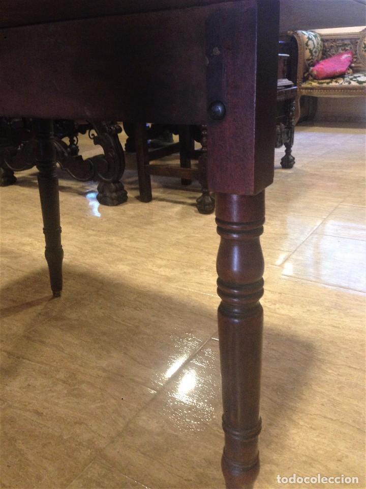 Antigüedades: Antigua mesa de caoba recién restaurada. Principio de silo XIX. - Foto 6 - 72277627
