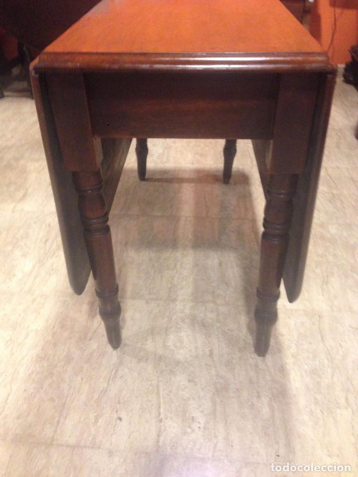 Antigüedades: Antigua mesa de caoba recién restaurada. Principio de silo XIX. - Foto 10 - 72277627