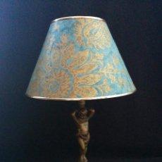 Antigüedades: LAMPARA FIGURA DE BRONCE CIRCA 1900. Lote 72284067