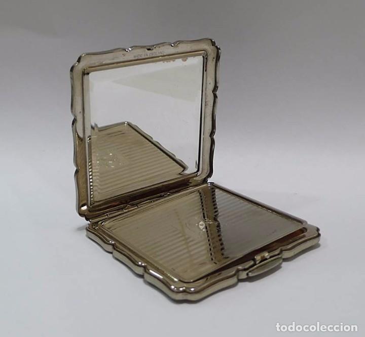 Antigüedades: Polvera con cuadro escena galante de plata - mediados Siglo XX Made in England - Foto 3 - 72299747