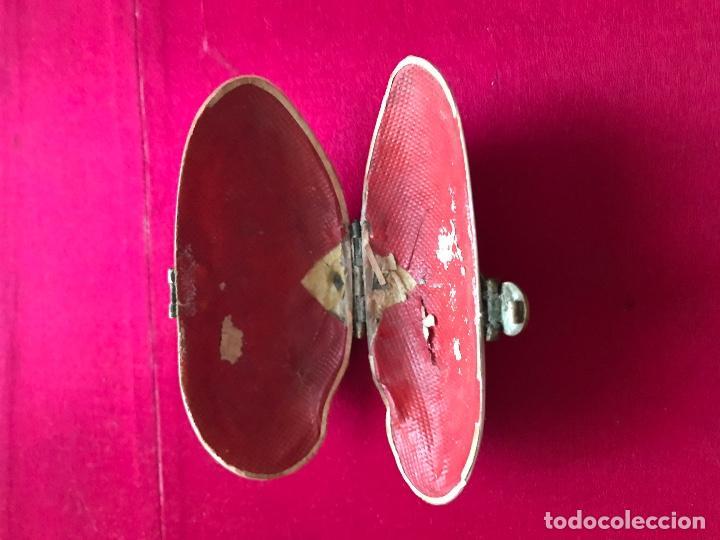 Antigüedades: Antiguo monedero isabelino realizado en concha natural. S.xix - Foto 2 - 72310711