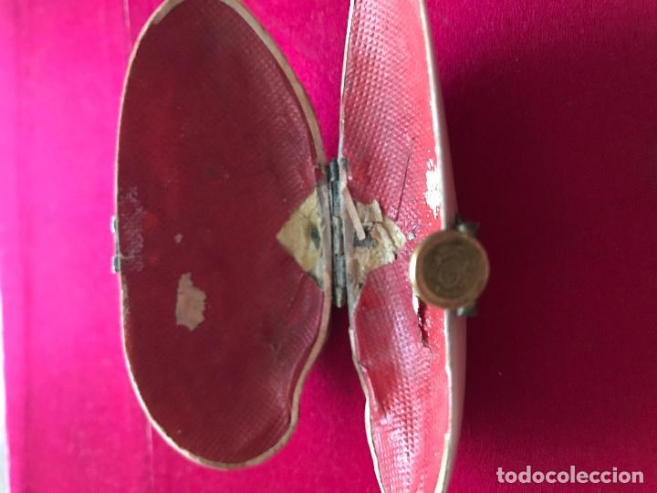 Antigüedades: Antiguo monedero isabelino realizado en concha natural. S.xix - Foto 3 - 72310711