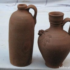 Antigüedades: LOTE DE BOTELLITA Y CANTARILLO EN CERAMICA POPULAR EXTINTO ALFAR DE TAMAMES ( SALAMANCA ). Lote 72334099