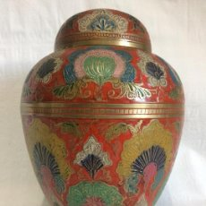 Antigüedades: ANTIGUO TIBOR CLOISONNÉ GRAN TAMAÑO. Lote 72343507
