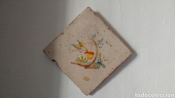 BALDOSA DE CERAMICA DECORATIVA. (Antigüedades - Porcelanas y Cerámicas - Otras)