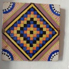 Antigüedades: BALDOSA DE CERAMICA DECORATIVA.. Lote 72381287
