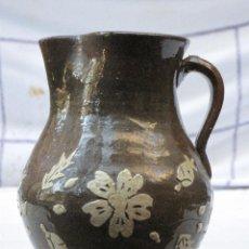 Antigüedades: JARRA ANTIGUA EN CERAMICA VIDRIADA DE CUERVA ( TOLEDO ). Lote 72422079