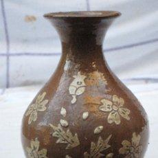 Antigüedades: JARRA ANTIGUA SIN ASAS, EN CERAMICA VIDRIADA DE CUERVA ( TOLEDO ). Lote 72422623