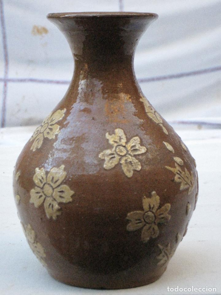 Antigüedades: JARRA ANTIGUA SIN ASAS, EN CERAMICA VIDRIADA DE CUERVA ( TOLEDO ) - Foto 2 - 72422623