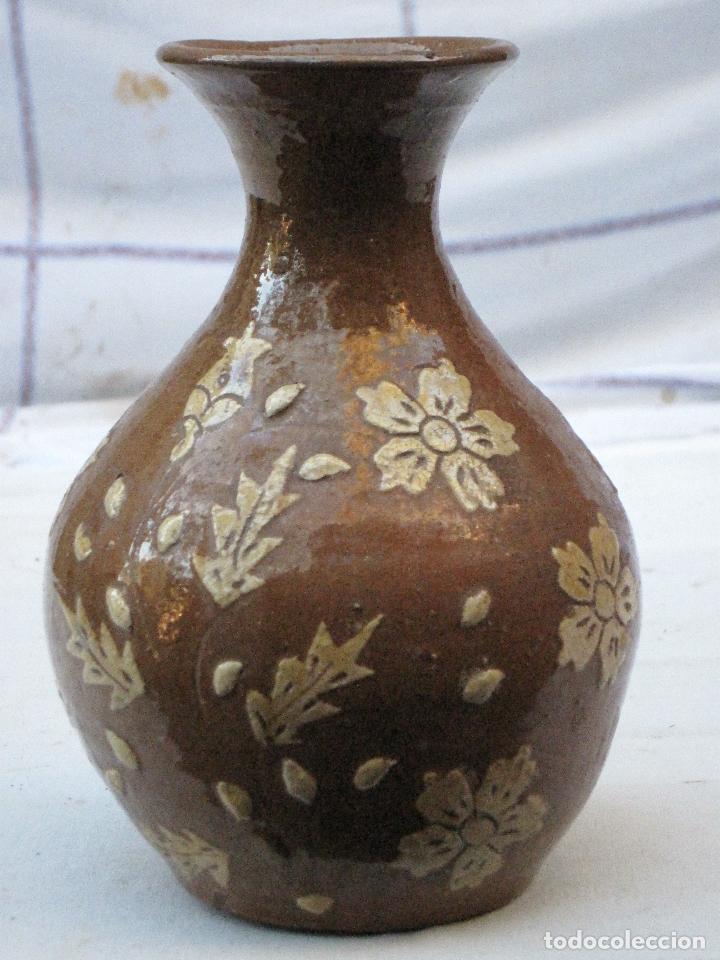 Antigüedades: JARRA ANTIGUA SIN ASAS, EN CERAMICA VIDRIADA DE CUERVA ( TOLEDO ) - Foto 3 - 72422623