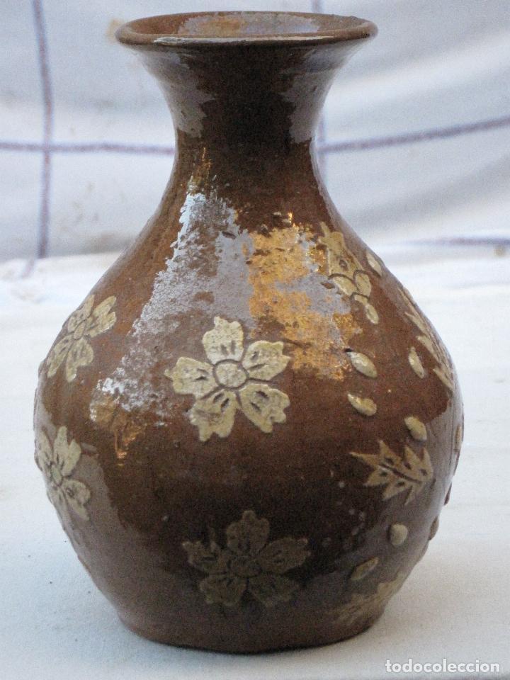 Antigüedades: JARRA ANTIGUA SIN ASAS, EN CERAMICA VIDRIADA DE CUERVA ( TOLEDO ) - Foto 4 - 72422623