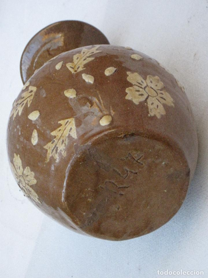 Antigüedades: JARRA ANTIGUA SIN ASAS, EN CERAMICA VIDRIADA DE CUERVA ( TOLEDO ) - Foto 5 - 72422623