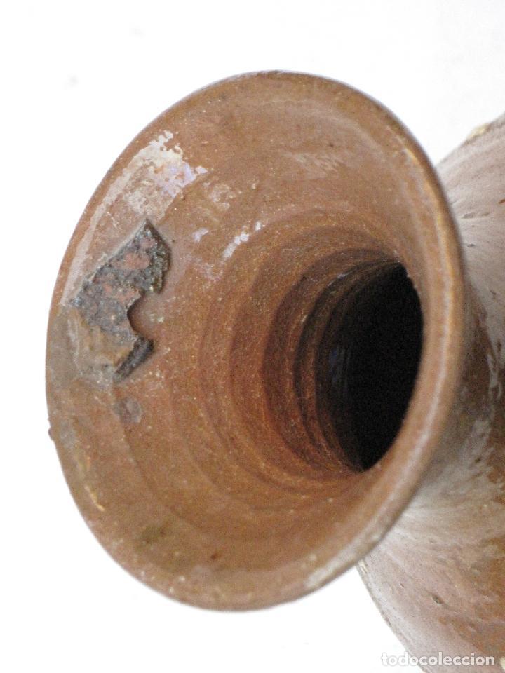 Antigüedades: JARRA ANTIGUA SIN ASAS, EN CERAMICA VIDRIADA DE CUERVA ( TOLEDO ) - Foto 6 - 72422623