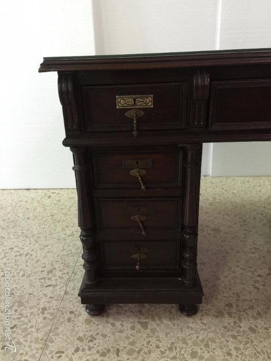 Antigüedades: Mesa De Despacho - Foto 5 - 72442343