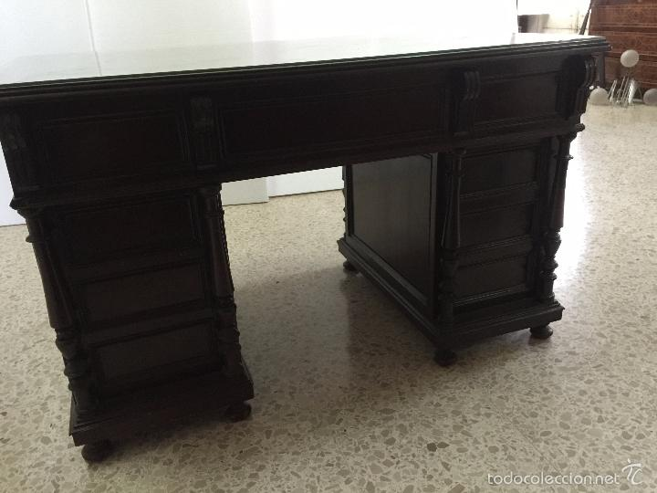 Antigüedades: Mesa De Despacho - Foto 13 - 72442343