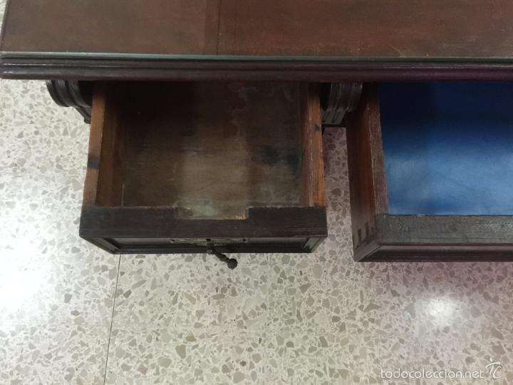 Antigüedades: Mesa De Despacho - Foto 17 - 72442343
