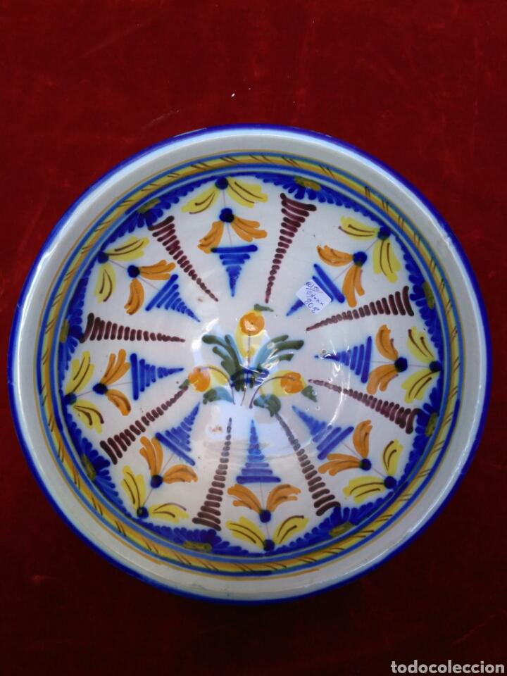 PLATO DE LOZA VIDRIADA DEL SIGLO XX (Antigüedades - Hogar y Decoración - Platos Antiguos)