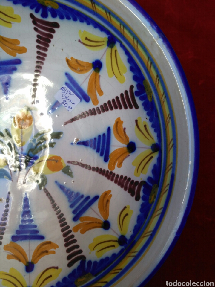 Antigüedades: Plato de loza vidriada del siglo XX - Foto 3 - 72462387